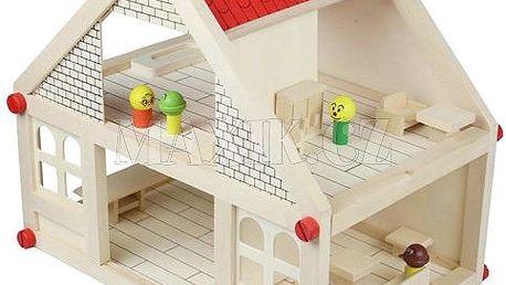 KidsHome Dřevěný domeček pro panenky