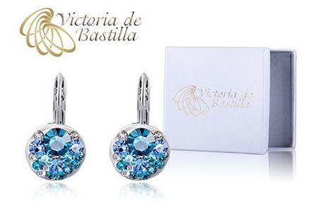Skvostné náušnice Victoria de Bastilla v modré barvě