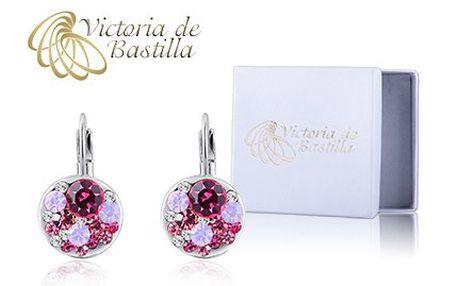 Skvostné náušnice Victoria de Bastilla v něžné růžové barvě