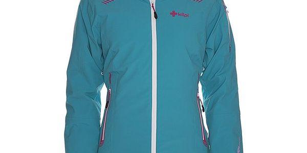 Dámská tyrkysová lyžařská bunda s kapucí Kilpi