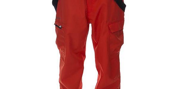 Pánské červené snowboardové kalhoty s odepínacími šlemi Kilpi