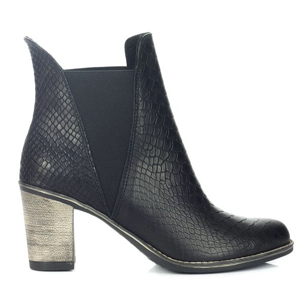 Dámské černé chelsea boty se šupinkami Joana and Paola