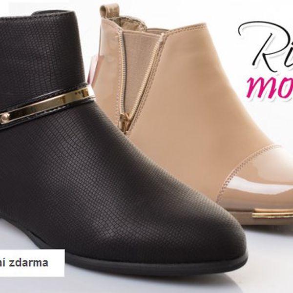 Moderní dámská lesklá obuv Rio – jarní kolekce 2015