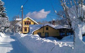 Krkonoše/Jizerky: Zimní dovolená na pro dva na Ranči U Potoka