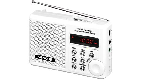 Přenosný rádiopřijímač s mp3 Sencor SRD 215 W