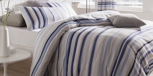 Povlečení Knitted Stripe, 200x200 cm