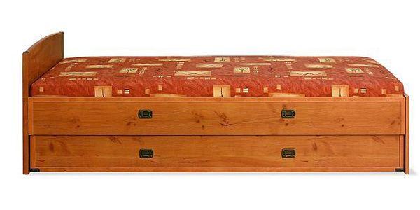 Praktická stylová postel Korsica s úložným boxem