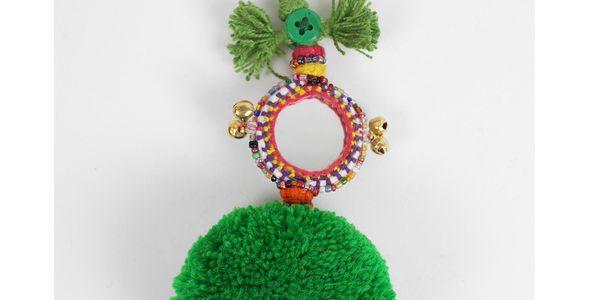 Přívěsek na klíče Pom Pom Green