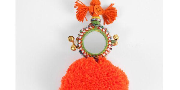 Přívěsek na klíče Pom Pom Orange