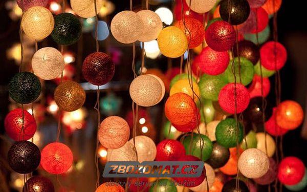 Světelné řetězy Cotton Balls s 20 kuličkami!
