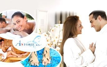 2hodinový WELLNESS BALÍČEK pro páry! Užijte si masáž, saunu a pedikúru rybkami Garra Rufa!