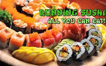 Running sushi exkluzivně v Karlových Varech! SUSHI All you can eat! Snězte, co sníte! Nepřeberná nabídka asijských specialit na XL jezdícím pásu v restauraci Asia & Sushi Restaurant v OC Fontána!!