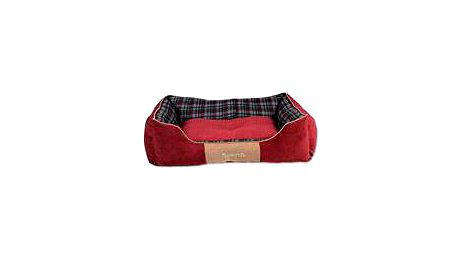 Žinylkový pelíšek s protiskluzovým spodním dílem Scruffs Highland Box Bed L 75x60cm červený