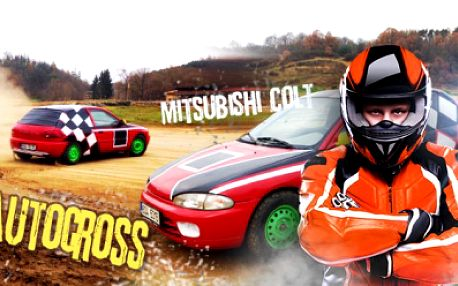 AUTOCROSS na profi okruhu v Sedlčanské kotlině! OSM KOL adrenalinu v upraveném speciálu Mitsubishi Colt!