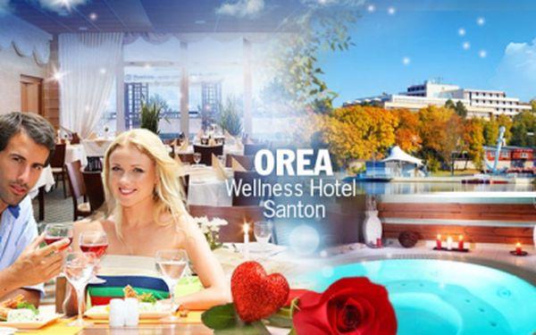 Romantická valentýnská večeře s ubytováním v OREA Resortu Santon*** s dvouhodinovým vstupem do wellness!