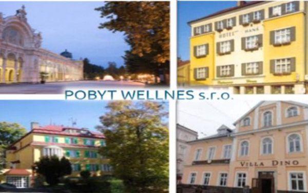 MAR. LÁZNĚ 4 dny s polopenzí pro 2 a 8 masážemi. Hotel Haná, Villa Skalník, Villa Dino až do května