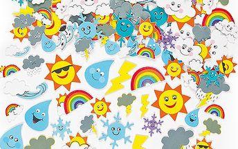 Pěnové samolepky počasí (96 ks)