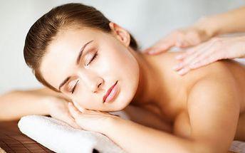 Valentýnská relaxační masáž zad a šíje pro odstran...
