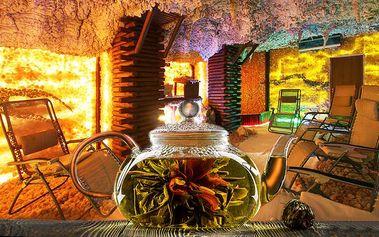 60 minut pro dva v privátní solné jeskyni s 2 konvičkami kvetoucího čaje v Praze