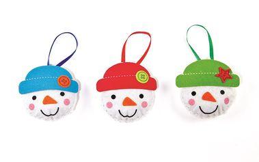 Šitíčko k výrobě dekorace sněhuláci (3 ks)