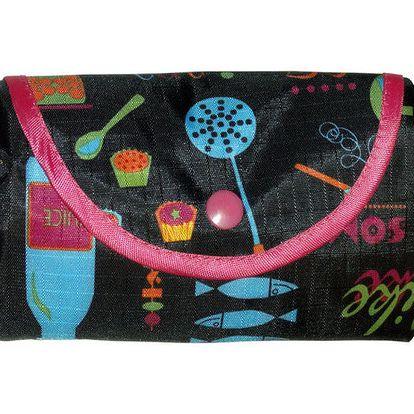 Dámská černá skládací nákupní taška Rosalita McGee