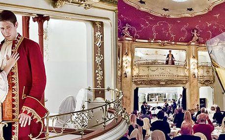 Romantická Večeře s Mozartem - 3chodové menu a hudební zážitek v exkluzivní lóži