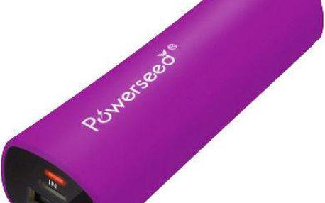 Záložní nabíjecí zdroj Powerseed PowerBank PS-2400E, fialová