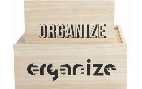 Set dřevěných boxů Organize, 2 ks