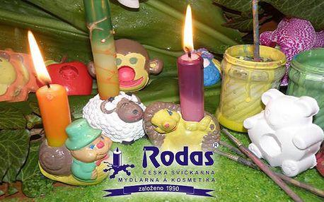 Vlastnoruční výroba svíček a malování svícnů