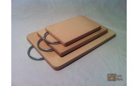 Kuchyňská sada dřevěných prkének s uchem (3ks)