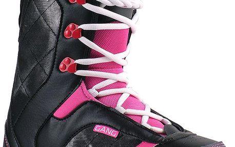 Snowboardové boty růžovo-černé kolekce PASSION