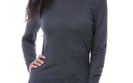 Dámské antracitové tričko s dlouhým rukávem Peace&Love