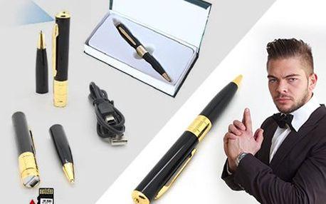 Špionské pero s kamerou, foťákem i diktafonem