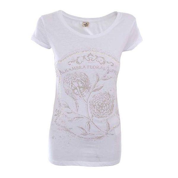 Dámské sněhobílé tričko s potiskem Timeout