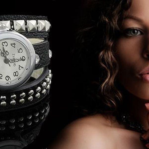 Hodinky ve stylu Avril z Eco kůže s krystaly a punk cvoky! Vzpoura, rebelie a nekonvenčnost to jsou dámské hodinky ve stylu Avril! Jen správně vybrané hodinky zaručí dokonalost vašeho outfitu.