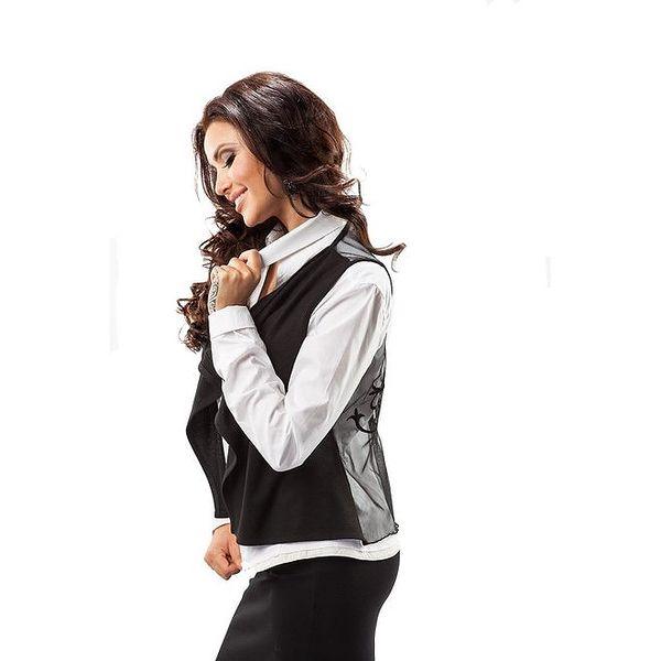 Dámská černá vesta s transparentními zády Enny