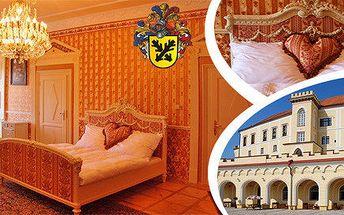 Noc na zámku s polopenzí pro dva v luxusním apartmá