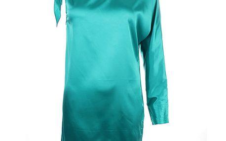 Dámské tyrkysové šaty s jedním rukávem Phard