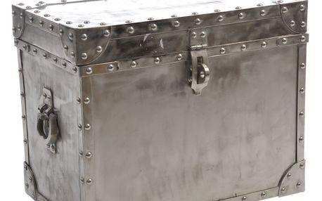 Truhla Rough Silver, 51x31x40 cm
