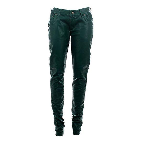 Dámské lahvově zelené úzké kalhoty Phard