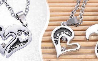Přívěsek ve tvaru srdce s 2 řetízky: dokažte si lásku stylově!