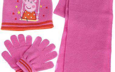 Zimní set s Pepinkou - růžový