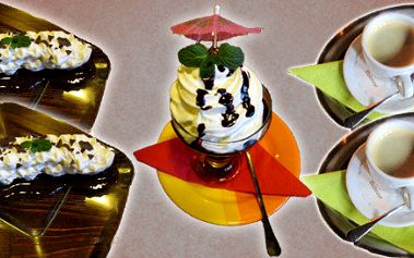 2x horké maliny nebo borůvky nebo 2x banán v domácí čokoládě + teplý nápoj