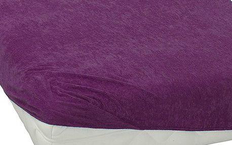 BedTex froté prostěradlo fialová, 90 x 200 cm