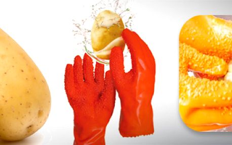 Rukavice na loupání brambor a zeleniny: snadná a rychlá práce!
