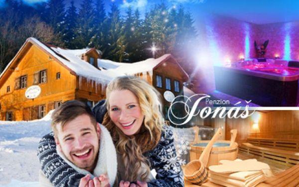 Pobyt na 3 nebo 7 dní pro 1 či 2 osoby v Penzionu Jonáš v Peci pod Sněžkou vč. polopenze! Možnost sauny, vířivky!