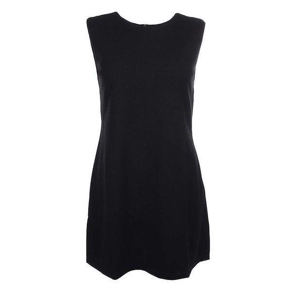 Dámské černé šaty bez rukávů Iska