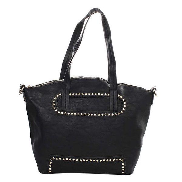 Dámská černá kabelka s dekorativními cvočky Caro Paris
