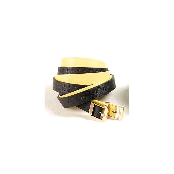 Elegantní pásky Next, žlutá, černá