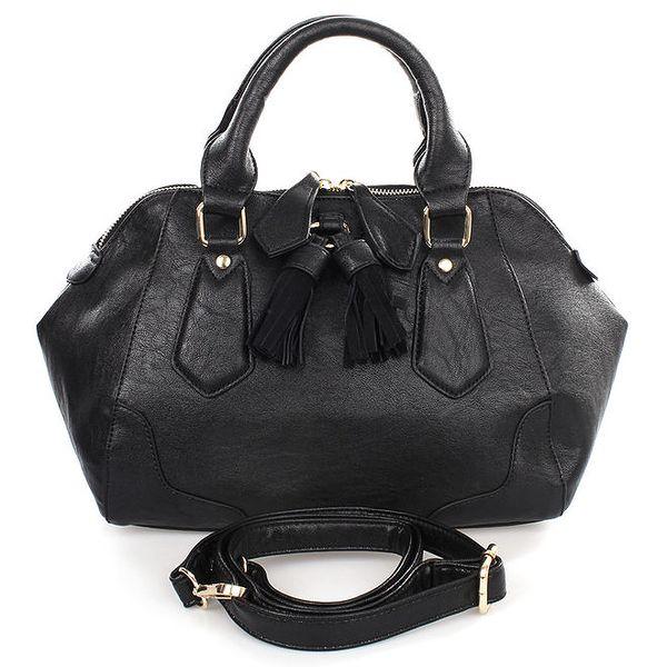 Dámská černá kabelka se střapci Caro Paris